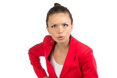 Portrait of dissenting business woman Royalty Free Stock Image