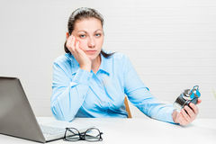 Portrait of a distressed businesswoman Stock Photos