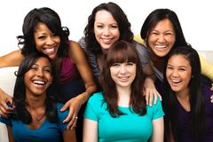 Diverse group of mothers and daughters. Royalty Free Stock Photo