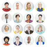 Portrait of Diverse Multiethnic Cheerful People Stock Photos