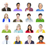 Portrait of Diverse Multiethnic Cheerful People Royalty Free Stock Photo