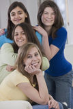 Portrait of diverse teenage girlfriends Royalty Free Stock Photo