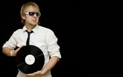 Portrait of dj Stock Photography