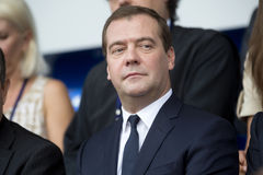 Portrait of Dmitry Medvedev Stock Images