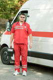 Portrait of a doctor ambulance Royalty Free Stock Photo