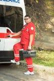 Portrait of a doctor ambulance Stock Photo
