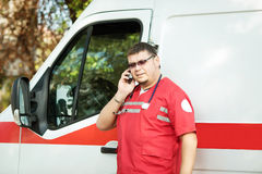 Portrait of a doctor ambulance Stock Image