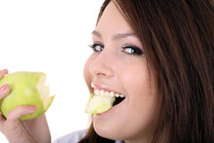 Portrait of doctor with apple. Royalty Free Stock Photo