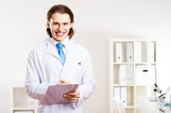 Portrait of a doctor Royalty Free Stock Photos