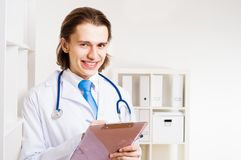 Portrait of a doctor Stock Images
