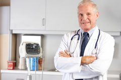 Portrait Of Doctor In Doctor's Office Stock Photography