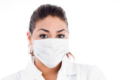 Portrait of doctor with mask Stock Photography