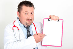 Portrait of a doctor with notepad Royalty Free Stock Photo