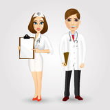 Portrait of doctor and nurse Stock Photo