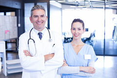 Portrait of doctor and nurse standing together Royalty Free Stock Photo