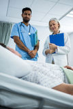 Portrait of doctor patient and smiling Royalty Free Stock Photography
