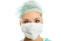 Portrait of a doctor in protective mask Stock Images