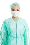 Portrait of a doctor in protective mask stock image