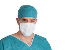 Portrait of doctor in scrubs. Close up shot. Royalty Free Stock Photography