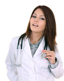 Portrait of doctor with stethoscope. Stock Images