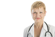 Portrait Of Doctor With Stethoscope Around Neck Royalty Free Stock Image
