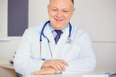 Portrait of Doctor with stethoscope looking at the camera. Stock Photography