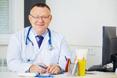 Portrait of Doctor with stethoscope looking at the camera. Royalty Free Stock Photos