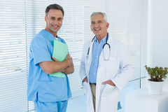 Portrait of doctor and surgeon royalty free stock images