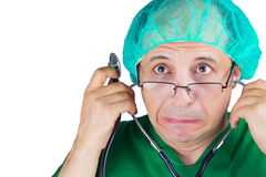 Portrait of doctor surgeon with stethoscope Stock Photos