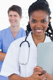 Portrait of doctors standing up Stock Photo