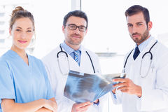 Portrait of doctors with xray report Royalty Free Stock Photo