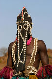 Portrait of a dogon dancer Royalty Free Stock Photo