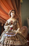 Portrait of Doll in Museum of Yaroslavl, Russia Royalty Free Stock Images