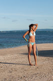 Portrait of a Dominican Girl dressing bikini Royalty Free Stock Photography