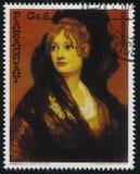 Portrait of Dona isabel Cobos de porsel by Francisko de Goya Stock Photography
