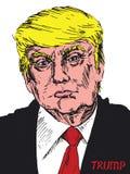 Portrait of Donald Trump stock photos