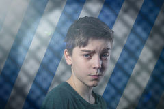 Portrait of a doubting teenage boy Royalty Free Stock Photography