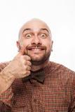 Portrait drôle d'un homme avec émotion sur son visage image libre de droits