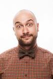 Portrait drôle d'un homme avec émotion sur son visage photo libre de droits