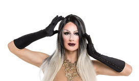 Portrait of drag queen Royalty Free Stock Photos