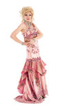 Portrait Drag Queen in Pink Evening Dress Performing Stock Photos