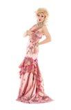 Portrait Drag Queen in Pink Evening Dress Performing Stock Image