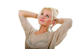 Portrait of the dreaming woman Royalty Free Stock Photography