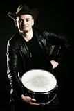 Portrait of a drummer Stock Photography