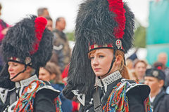 Portrait of Drummer at Braemar Royal Gathering royalty free stock photo