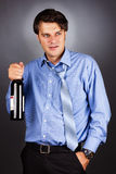 Portrait of a drunk businessman Stock Photography