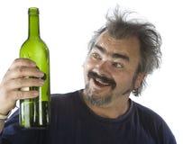 Portrait of a drunk man stock image