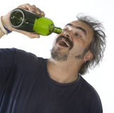 Portrait of a drunk man Royalty Free Stock Images