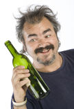 Portrait of a drunk man Royalty Free Stock Photography
