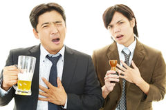Portrait of a drunken men Royalty Free Stock Image